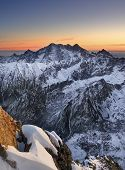 Sunset In Mountain High Tatras