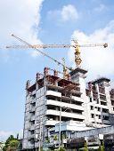 Building under construction on nice sky