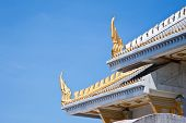 A thai temple church and nice blue sky