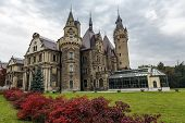 Moszna Palace At Opole Land In Poland
