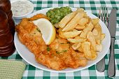 Fish And Chips With Mushy Peas