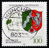 Postage Stamp Germany 1993 Coat Of Arms, North Rhine-westphalia