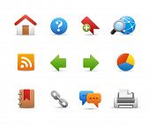 Web Site Icons // Soft Series Easy to separate or modify.