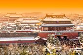The Forbidden City in winter,Beijing,China