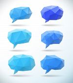 Set Of Polygonal Geometric Speech Bubble