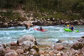Kayaking On The Soca River, Slovenia