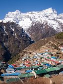 picture of sherpa  - The Himalayan settlement of Namche Bazaar - JPG
