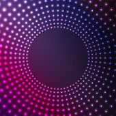 Abstract Background Of Glowing Circles.flickering Design Of Circumferences.vector
