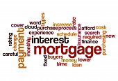 Mortgage Interest Payment Concept Background