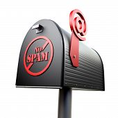 picture of no spamming  - Mailbox with  - JPG