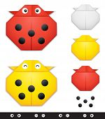 Origami ladybug creation kit
