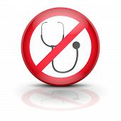stock photo of no spamming  - Symbol stethoscope - JPG