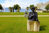 Bronze Statue To Ella Fitzgerald In Montreux, Switzerland.