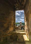 View through a castle window