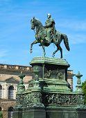 Equestrian Statue Of King John Of Saxony (konig Johann I. Von Sachsen) At Theaterplatz In Dresden, G