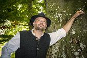 Portrait Of Traditional Bavarian Man