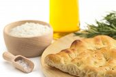 focaccia and recipe ingredients