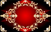 The Background Image With Precious Stones, Gold Pattern