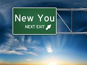 stock photo of fresh start  - New you next exit - JPG