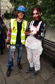 The 2013 London Zombie Walk Which Raises Money For St Mungo's Homeless Charity, In London 12Th Octob