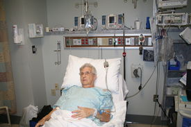 stock photo of hospital patient  - Senior woman in hospital bed - JPG