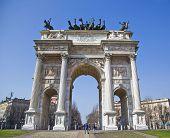 Porta Sempione In Milan, Italy