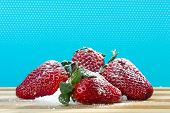 Fresh Strawberry With Sugar Powder