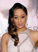 LOS ANGELES - APR 10:  Tia Mowry arrives to the 'Transcendence' Los Angeles Premiere  on April 10, 2014 in Westwood, CA