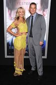 LOS ANGELES - APR 10:  Cole Hauser & Cynthia Daniel arrives to the 'Transcendence' Los Angeles Premi