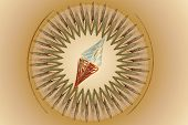 Stylized image of a compass