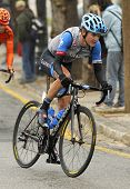 BARCELONA - 30, MARCH: Nate Brown of Garmin-Sharp Team rides during the Tour of Catalonia cycling ra