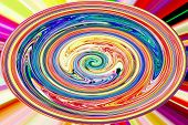 Color Background and Abstract Art - Circle of Rainbow