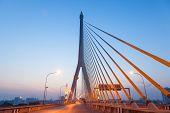 Rama Viii Bridge In The Morning