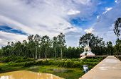 stock photo of crematory  - Thai crematory in the buddha temple countryside Thailand - JPG