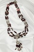 Luxurious garnet necklace