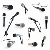 microphones on the white