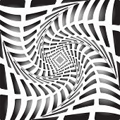 Design Monochrome Twirl Movement Illusion Background