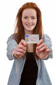 picture of 16 year old  - 16 to 18 year old girl just received her driver license - JPG