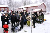 UMEA, SWEDEN - DECEMBER 05. Christmas market at an old homestead on December 05, 2010 in Umea, Swede