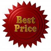Gold & Red Metallic Best Price Seal