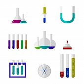 Illustration of chemistry labware