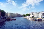 Fontanka River in the Saint Petersburg