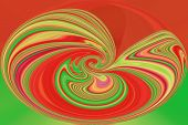 Color Background of Abstract Art and Screensaver beauty - Red and Green Circle