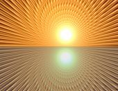 stock photo of wane  - Space warp travel through orange gold abstract universe - JPG