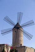 beautiful old windmill at Majorca island, Spain