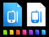 Organizer Icons on Colorful Paper Document Collection
