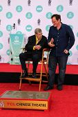 LOS ANGELES - APR 12:  Jerry Lewis, Quentin Tarantino at the Jerry Lewis Hand and Footprint Ceremony