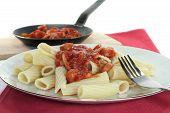 Tortiglione With Tomato Sauce poster