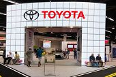 Toyota Stand At The Orange County International Auto Show
