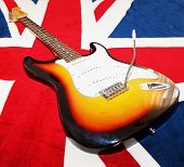 stock photo of stratocaster  - CASALE MONFERRATO OCTOBER 5 2014 - JPG